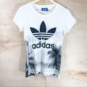 Adidas   Palm Tree Trefoil Logo T-Shirt